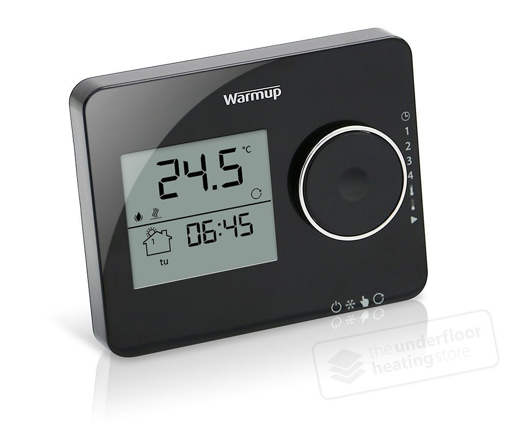 Warmup Tempo Piano Black Thermostat