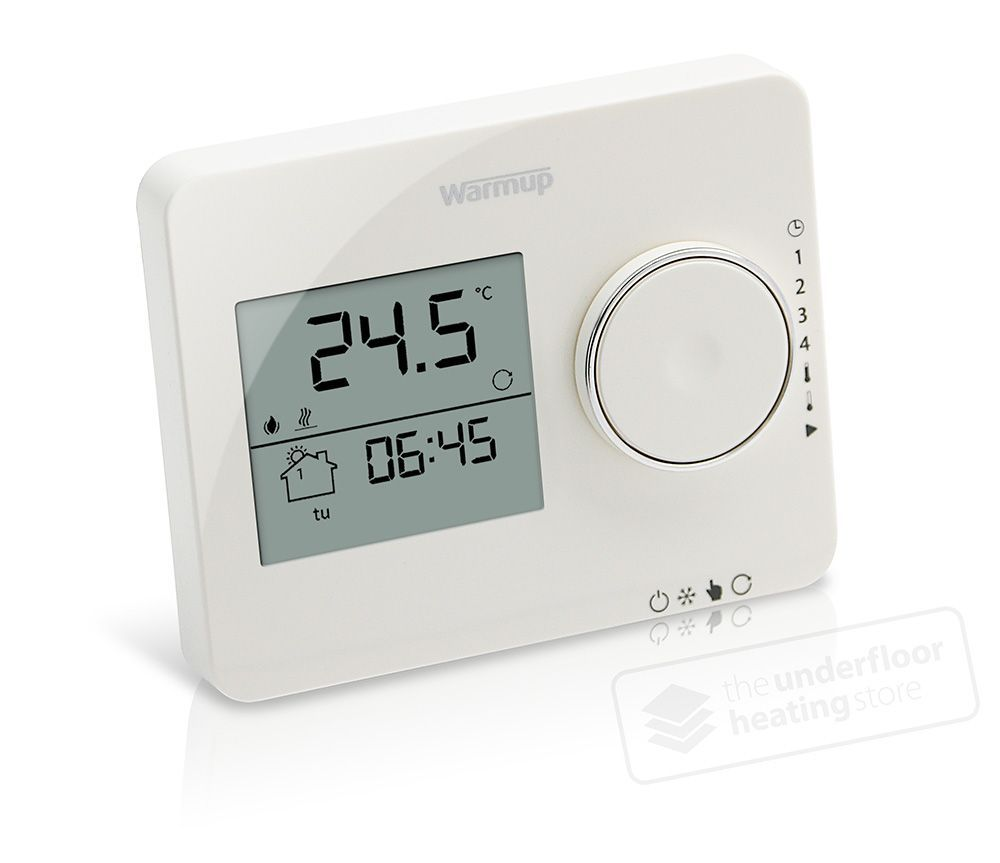 Warmup Tempo Porcelain White Thermostat