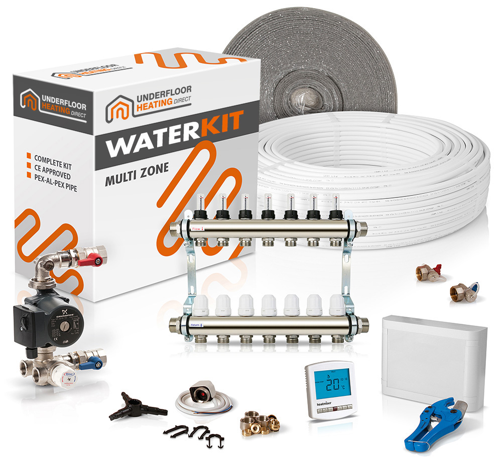 Underfloor Heating Direct Confused Water Multi Room Wiring Multiple Zone Valves Is That It Supplied With Thermostats And A Centre The Allows Switching On Of Different Zones At Times
